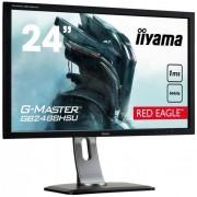 "Monitor Gaming TN LED iiyama G-Master Red Eagle 24"" GB2488HSU-B3, Full HD (1920 x 1080), DVI, HDMI, DiplayPort, 1 ms, 144 Hz, Boxe, FreeSync (Negru)"