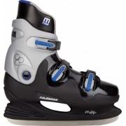 Nijdam Ijshockeyschaatsen Hardboot Unisex Zwart/Blauw Maat 37