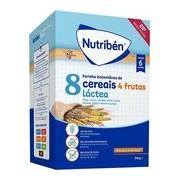 Papa 8 cereais com 4 frutas e leite adaptado 600g - Nutriben