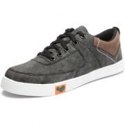 Stylemint Men Grey Canvas Shoes
