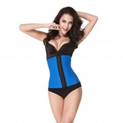 Latex waist trainer - blauw