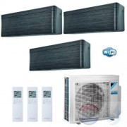 Daikin Trio Split 2.0+2.5+2.5 +4.0 kW Stylish Blackwood Zwart 3MXM40N Air Conditioner Warmtepomp WiFi A+++/A++ 7+9+9 Btu