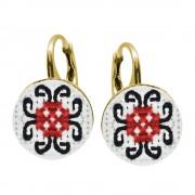 Rebeca - Cercei Argint Placat Handmade - Motive Traditionale