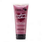 I Love Exfoliant de duș natural cu arome de zmeură și mure (Raspberry & Blackberry Exfoliating Shower Smoothie) 200 ml