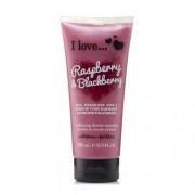 I Love Peeling de duș natural cu arome de zmeură și mure (Raspberry & Blackberry Exfoliating Shower Smoothie) 200 ml