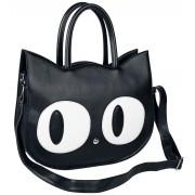 Banned Alternative Big Kitty Handtasche-schwarz Onesize Damen