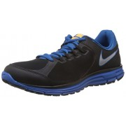 Nike Men's Lunar Forever 3 Msl Black,Metallic Silver,Atomic Mango,Military Blue Running Shoes -7 UK/India (41 EU)(8 US)