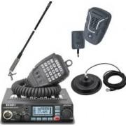 Pachet statie radio CB Avanti Primo PRO-version + Antena radio Sirio T3-27 + Microfon wireless + Baza magnetica