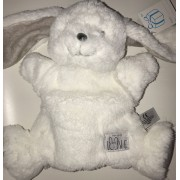 Doudou Lapin Blanc Gris Marionnette Simba Toys Benelux Peluche Jouet Eveil Bebe Made With Love Comforter White Bunny Puppet Plush