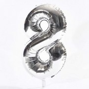 Crazy Sutra Eight Number Foil Toy Balloonsli silver