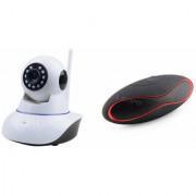 Zemini Wifi CCTV Camera and Rugby Bluetooth Speaker for LG OPTIMUS L9 II(Wifi CCTV Camera with night vision  Rugby Bluetooth Speaker)