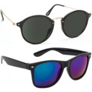 SRPM Cat-eye, Wayfarer Sunglasses(Black, Blue)