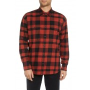 Vince Regular Fit Buffalo Plaid Sport Shirt BRICK