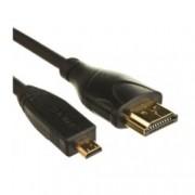 Кабел Digital One SP00031, от Micro HDMI(м) към HDMI(м), 1.5m, черен