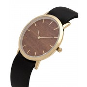 Analog Watch Classic Makore Wood Dial & Black Strap Watch GB-CM
