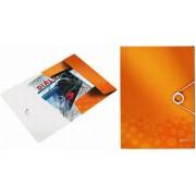 Mapa cu elastic LEITZ Wow, plastic PP - portocaliu metalizat