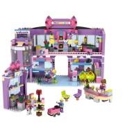 COGO Girl Series 14511 Shopping Mall 810 Pcs Building Block Sets Bricks Toys Best Gift for Girls