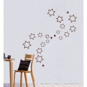 Decor Villa Wall Sticker (stars Surface Covering Area 23 x 24 Inch)