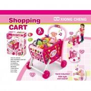 Zenélő bevásárlókocsi kiegészítőkkel, rózsaszín