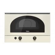 Cuptor cu microunde compact Teka MWR 22 BI VN, 22 L, 850 W, Control electromecanic, 5 nivele de putere, Bază ceramică, Timer, Vanilla, 40586302