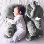 Almohada Suave De Bebe Para Dormir ER Peluche De Elefante-Gris