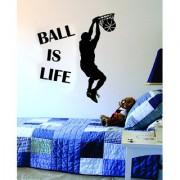 Ball Is Life Basketball Court Wall Decal Black Vinyl Art Sticker Sport Boy Girl Teen Baby OS 08