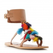 Steve Madden Colorful Tassel Chain Gladiator Sandals
