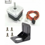 Invento 2pcs Nema 17 4.2 Kg-cm Bipolar Stepper Motor + L Bracket Mount + Vibration Damper for CNC Robotics DIY Projects
