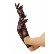 lange Spitzenhandschuhe schwarz, One Size