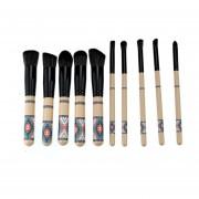 EB Herramienta Profesional De Los Cosméticos Del Sistema De Cepillo Del Maquillaje 10pcs / Set Con La Impresión Geométrica-multicolor