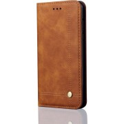 Mobigear Casual Retro Wallet Book Case Bruin Huawei Mate 20 Pro