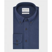 Blauw knitted Michaelis shirt button down