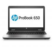 HP ProBook 650 G2 i5-6200U / 15.6 FHD SVA AG WWAN / 4GB 1D DDR4 / 256GB TLC / W7p64W10p / DVD+-RW / 1yw / Webcam720p / kbd DP Backlit / Intel 8260 AC 2x2+BT 4.2 / FPR / No NFC (QWERTY)