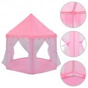 vidaXL Палатка за принцеси, розова