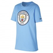Tee-shirt Manchester City FC Crest pour Garçon plus âgé - Bleu