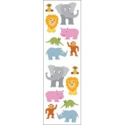 Mrs. Grossman's Stickers-Chubby Jungle Animals