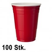 StudyShop 100 Stück Rote Becher (Red Cups 16 oz.)