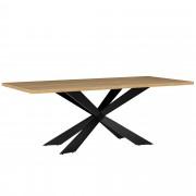 [en.casa]® Mesa de comedor 6-8 personas roble claro 200x100cm mesa de cocina rectangular madera