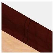 PBL605.141-S4 - Set 4 bucati piese legatura culoare mahon inchis pentru plinta PBC605