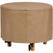 Classic Accessories Duck Covers Essentials 31Inch Round Patio Ottoman/Side Table Cover - Latte, Model EOT3118