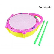 Ramakada Flash Musical Drum Toy with 5 Visual 3D Lights, Music, 3 Game Modes