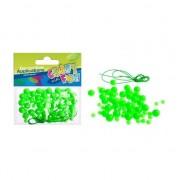 Decorare decorative verzi din plastic margele 80 de piese (MTCR BD007)