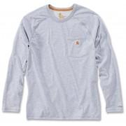 Carhartt Force Cotton Camisa de manga larga Gris Claro S