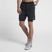 Short de running Nike Distance 2-in-1 18 cm pour Homme - Noir
