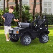 4, Farben HOMCOM® Kinderauto Elektroauto Jeep mit MP3 Anschluss Kinderfahrzeug Fahrzeug Kinder Elektro Auto Spielzeug