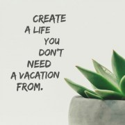 5 Ace create a life you dont wall sticker poster motivational and inspirational(size:12x18 inch) multicolo