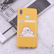 YJZG For Xiaomi Mi redmi Nota 5 6 7 8 9 Lite Pro Plus Osos de la Historieta Linda imágenes de Instagram silicón del Caramelo de la Caja del teléfono Capa Fundas Coque