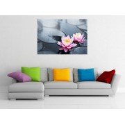 "Tablou grand canvas ""Pink lotus blossoms"" - cod Z22"