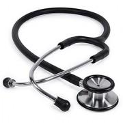 Recombigen Dual Head Stethoscope Black for Doctors Medical Students