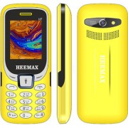 HEEMAX H7 (Dual Sim 1.8 Inch Display 1000 Mah Battery 1 YEAR WARRANTY Made In India )YELLOW